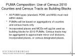 puma composition use of census 2010 counties and census tracts as building blocks