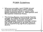 puma guidelines