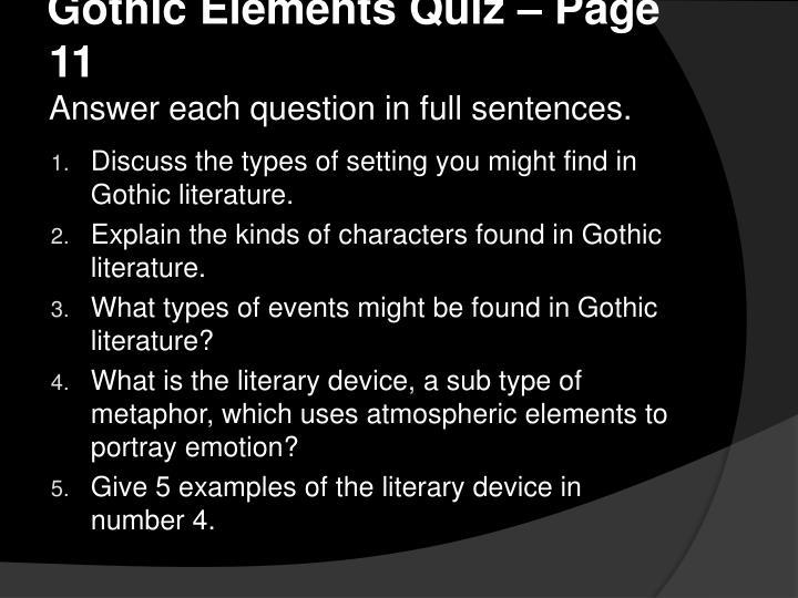 Gothic Elements Quiz – Page 11