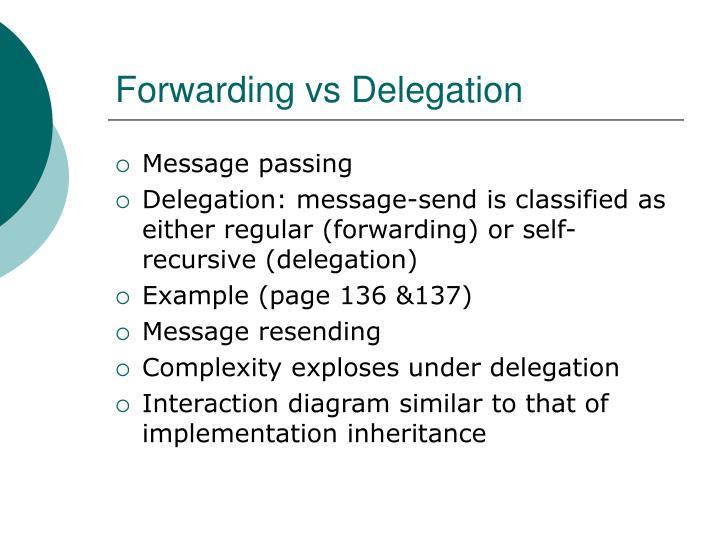 Forwarding vs Delegation
