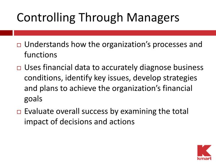 Controlling Through Managers