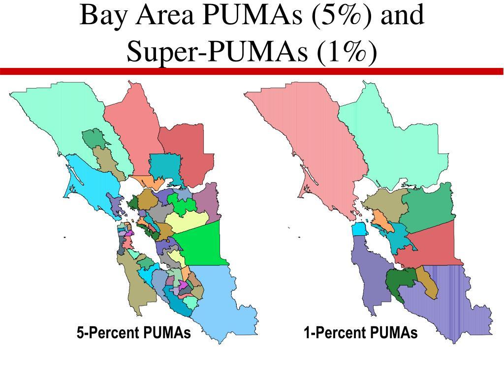 Bay Area PUMAs (5%) and Super-PUMAs (1%)