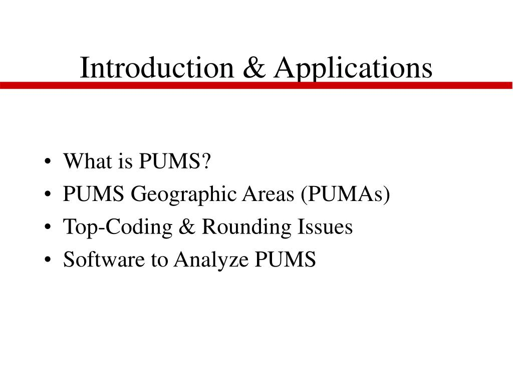 Introduction & Applications