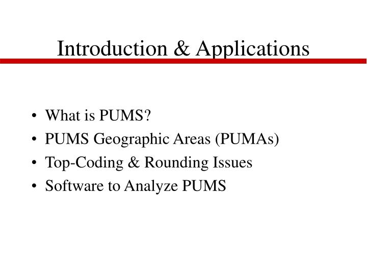 Introduction applications