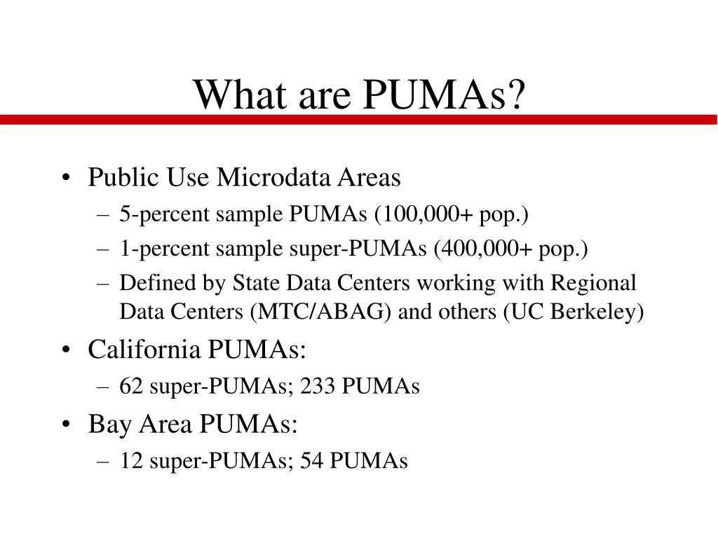 What are PUMAs?