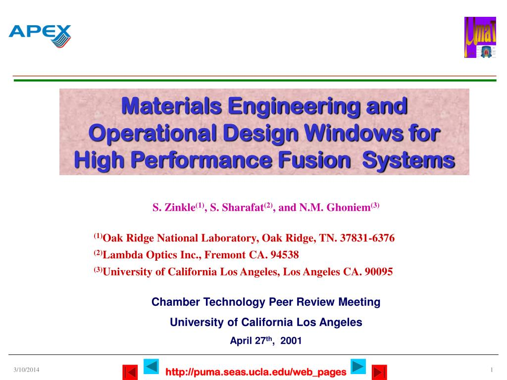 Materials Engineering and Operational Design Windows for High Performance Fusion  Systems
