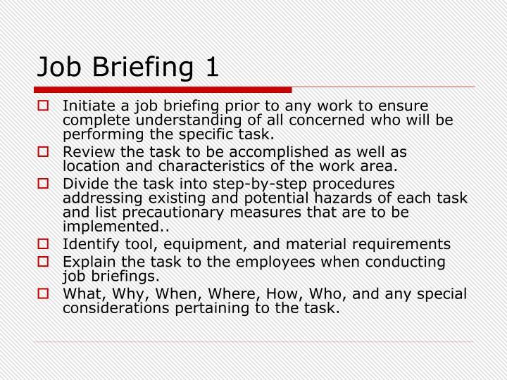 Job Briefing 1