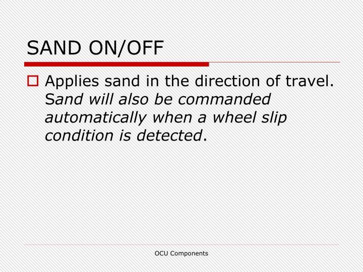 SAND ON/OFF