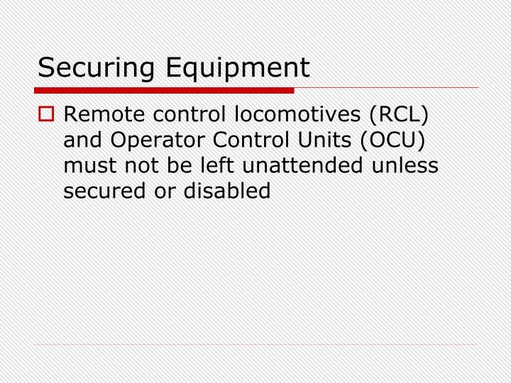 Securing Equipment