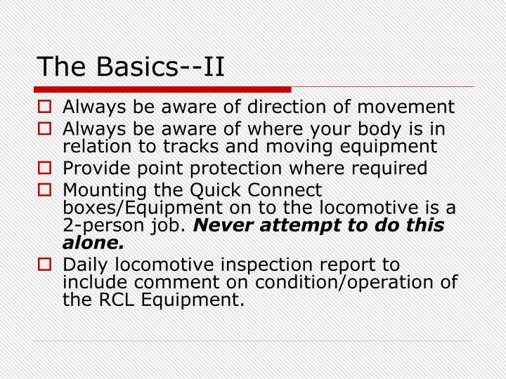 The Basics--II