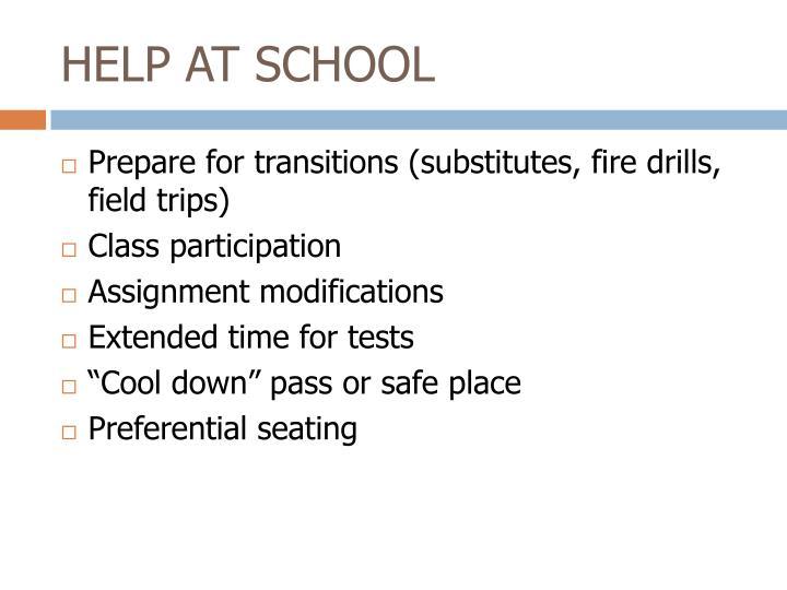 HELP AT SCHOOL