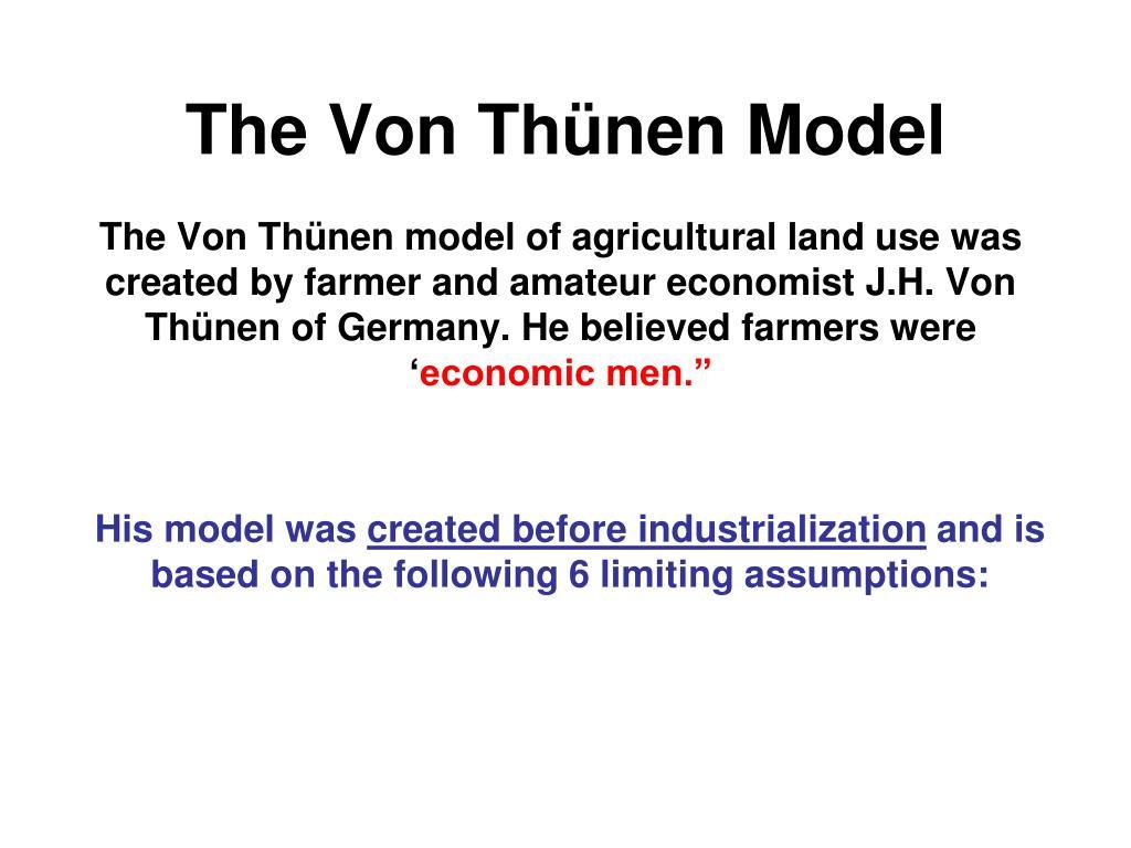von thunen agricultural model