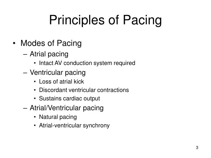 Principles of pacing1
