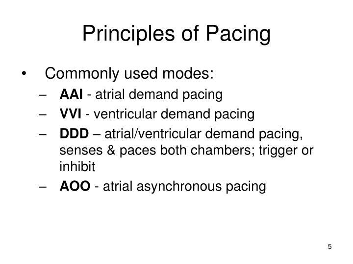 Principles of Pacing