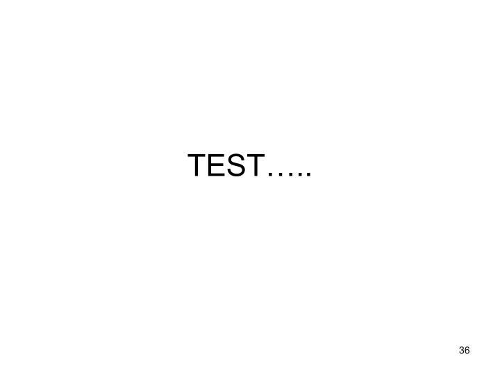 TEST…..