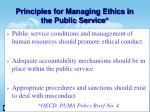 principles for managing ethics in the public service26