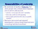 responsibilities of leadership32