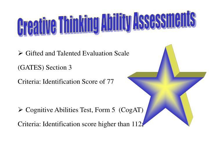 Creative Thinking Ability Assessments