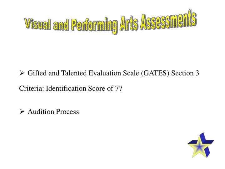 Visual and Performing Arts Assessments
