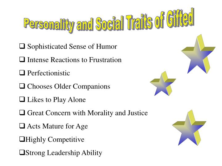 Personality and Social Traits of Gifted