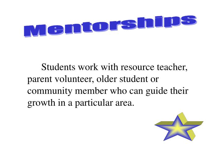 Mentorships