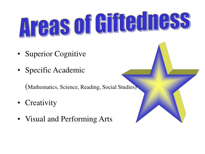 Areas of Giftedness