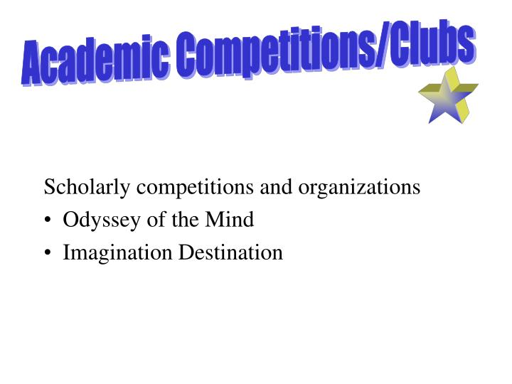 Academic Competitions/Clubs