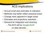 acs implications