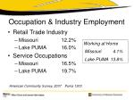occupation industry employment