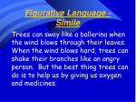 figurative language simile