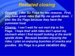 restated closing
