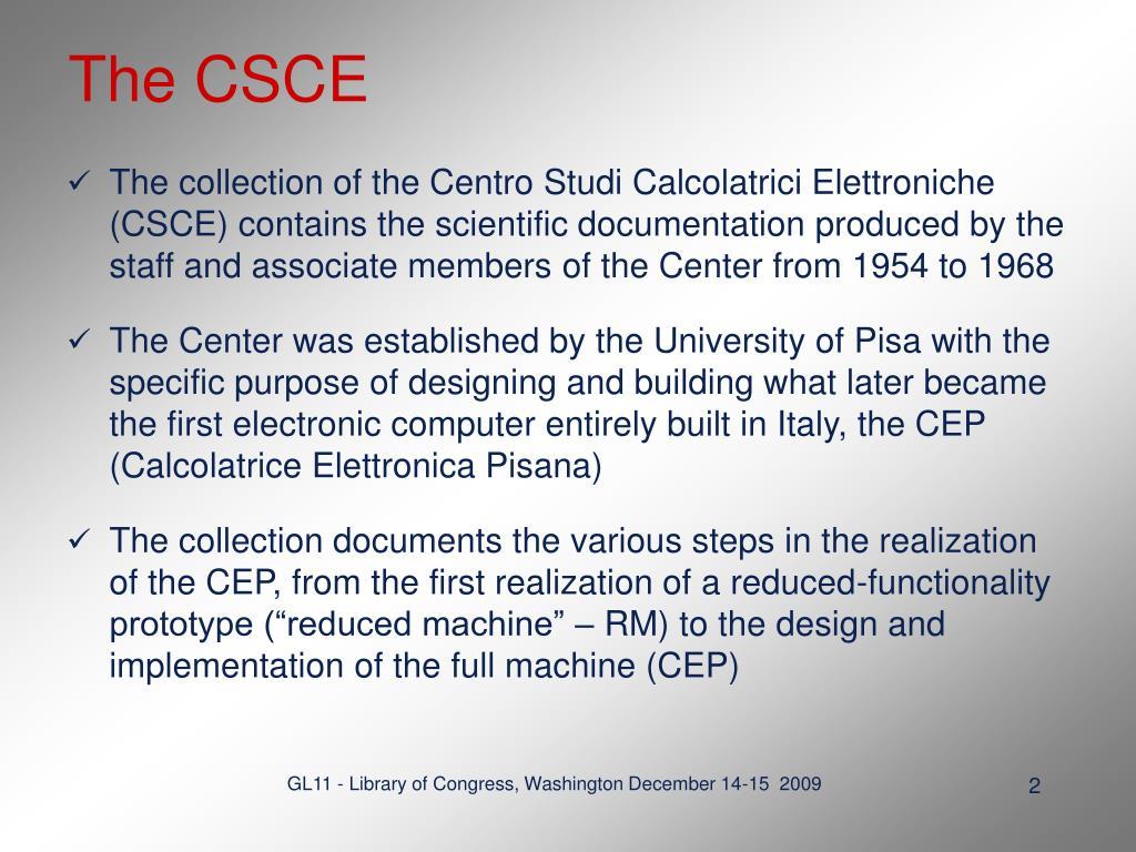 The CSCE