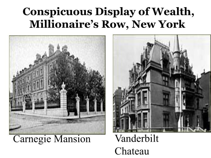Conspicuous Display of Wealth,