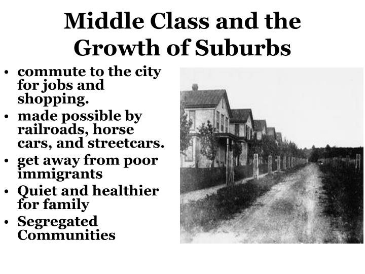 Middle Class and the Growth of Suburbs