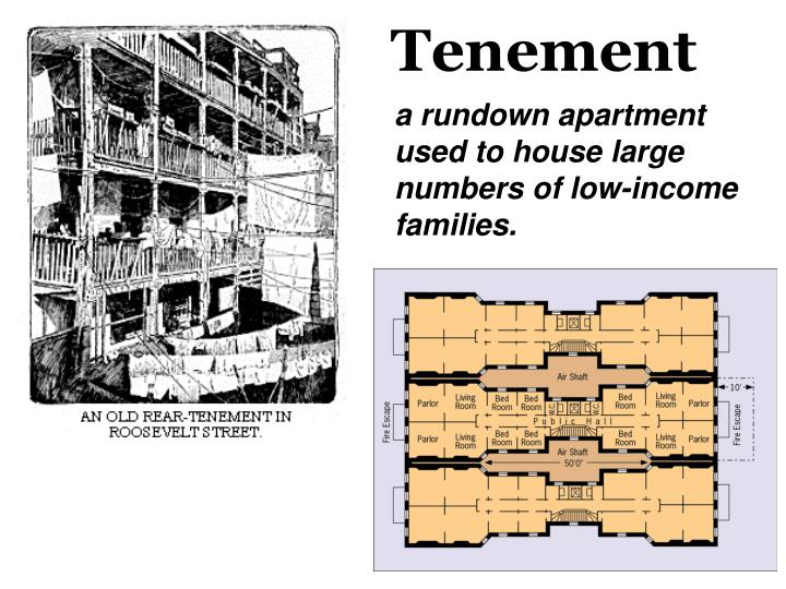 a rundown apartment used to house large numbers of low-income families.