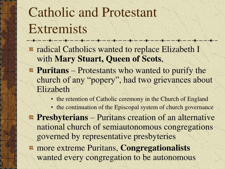 Catholic and Protestant Extremists