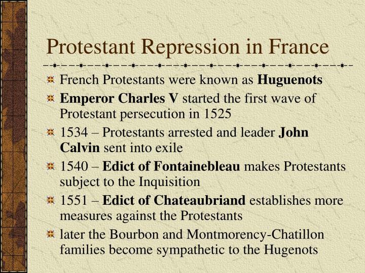 Protestant repression in france