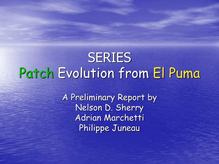 Series patch evolution from el puma