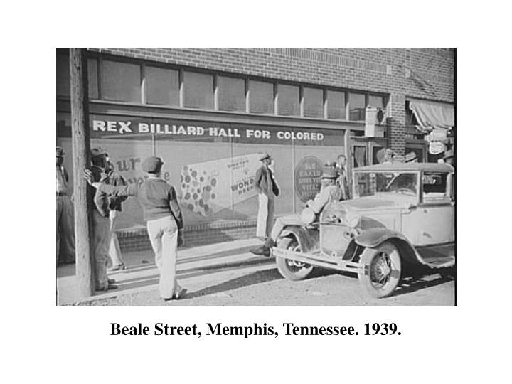 Beale Street, Memphis, Tennessee. 1939.