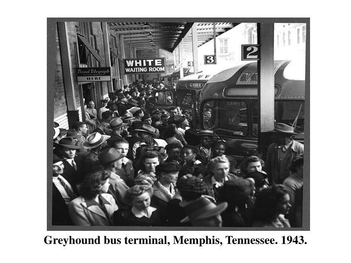 Greyhound bus terminal, Memphis, Tennessee. 1943.