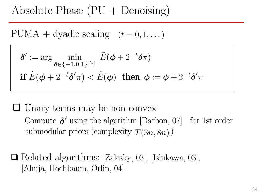 PUMA + dyadic scaling