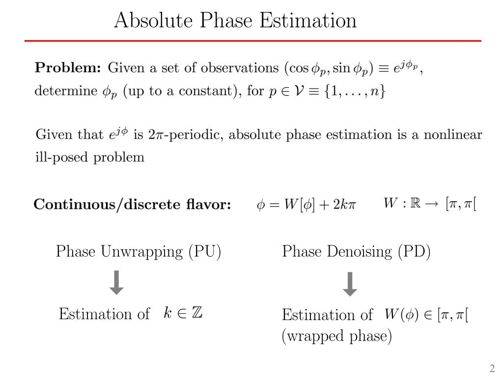 Phase Denoising (PD)