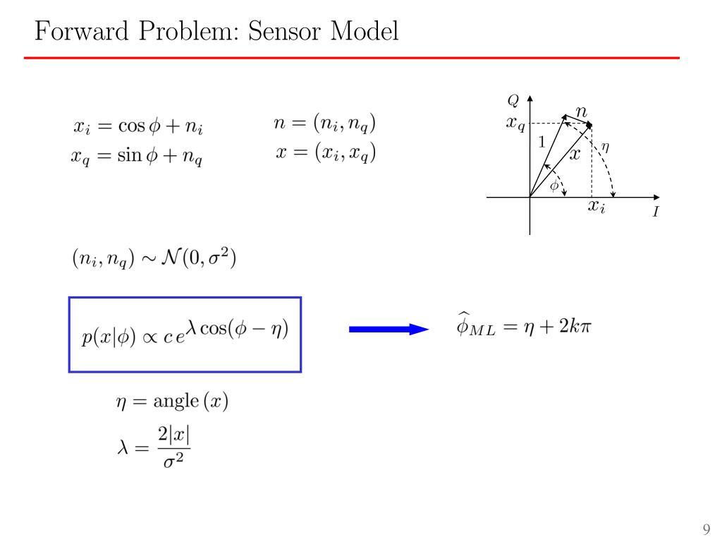 Forward Problem: Sensor Model