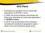acs plans