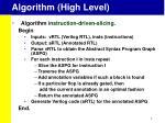 algorithm high level