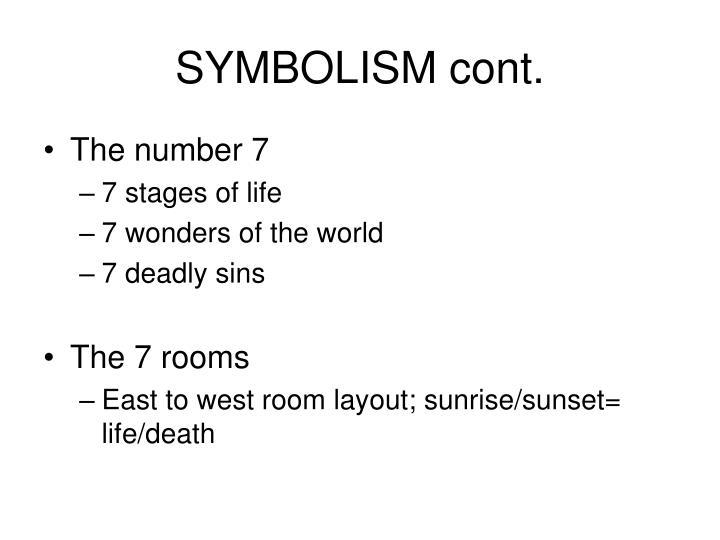 Symbolism cont