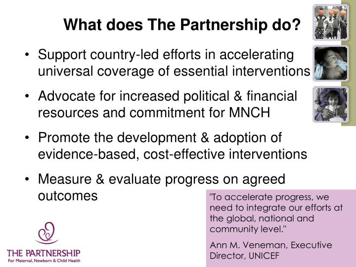 What does The Partnership do?