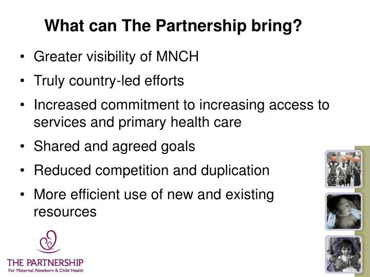 What can The Partnership bring?