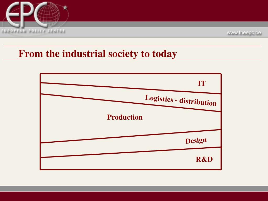 From the industrial society to today