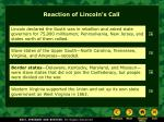 reaction of lincoln s call